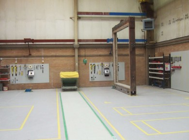Construction area in Fire Test Laboratory